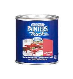 Rust-Oleum 1964730 Painters Touch Colonial Red 1/2 Pt