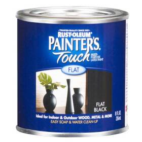 Rust-Oleum 1976730 Painters Touch Flat Black 1/2 Pt