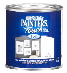 Rust-Oleum 1990730 Painters Touch Flat White 1/2 Pt