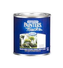 Rust-Oleum 1992730 Painters Touch Gloss White 1/2 Pt