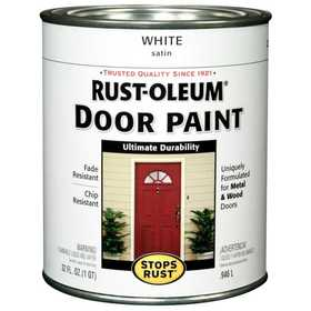 Rust-Oleum 238311 Stops Rust Door Paint White Satin Qt