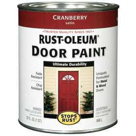 Rust-Oleum 238314 Stops Rust Door Paint Cranberry Satin Qt