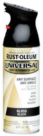 Rust-Oleum 245196 Universal Gloss Black Spray Paint