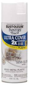 Rust-Oleum 249060 Painters Touch 2x Semi Gloss White Spray Paint