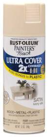 Rust-Oleum 249073 Painters Touch 2x Satin Ivory Silk Spray Paint