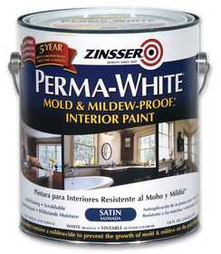 Zinsser 2711 Perma White Bathroom Satin Gal