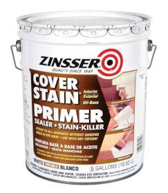 Zinsser 3500 Cover Stain Int/Ext Oil Base Primer & Sealer 5 Gal
