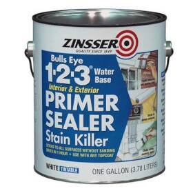 Zinsser 02001 Bulls Eye 1-2-3 Stain Killer Interior/Exterior Primer Sealer Gallon