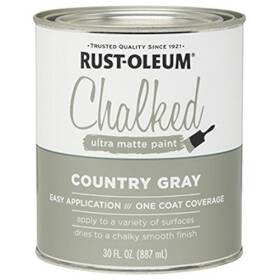 Rust-Oleum 285141 Chalked Ultra Matte Paint Country Gray