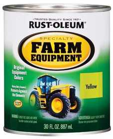 Rust-Oleum 7443502 Farm Equipment Paint John Deere Yellow Qt