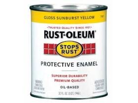 Rust-Oleum 7747502 Stops Rust Paint Sunburst Yellow Qt