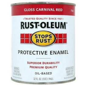 Rust-Oleum 7763502 Stops Rust Paint Carnival Red Qt