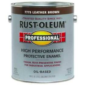 Rust-Oleum 7775402 Stops Rust Paint Leather Brown Gal