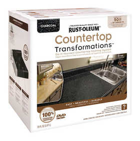 Rust-Oleum 258285 Countertop Transformations Refinishing Kit Large Charcoal