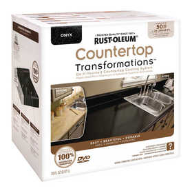 Rust-Oleum 258284 Countertop Transformations Refinishing Kit Large Onyx