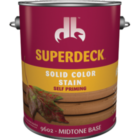 Duckback 740755960241 Superdeck Solid Color Stain Self Priming In Midtone Base 1 Gal