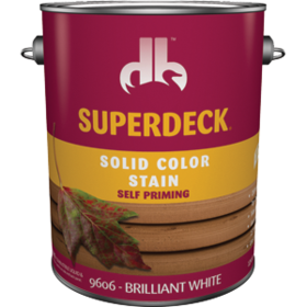 Duckback 740755960647 Superdeck Solid Color Stain Self-Priming Brilliant White Gal