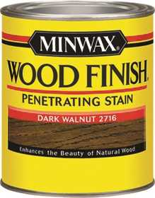 Minwax 2742622716 Dark Walnut Wood Finish Stain 1/2-Pint