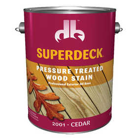 Duckback 4075520014 Superdeck Pressure Treated Wood Stain Professional Exterior Oil Base In Cedar 1 Gal
