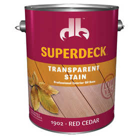 Duckback 4075519024 Superdeck Transparent Stain Professional Exterior Oil Base in Red Cedar 1 Gal