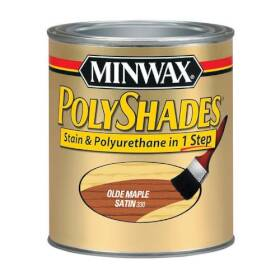 Minwax 2742621330 Polyshades Wood Finish Satin Olde Maple1/2 Pt