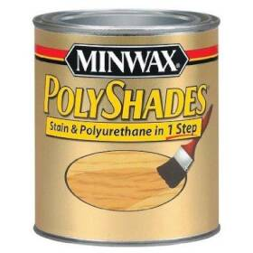 Minwax 2742621340 Polyshades Wood Finish Satin Antique Walnut 1/2 Pt