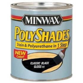 Minwax 2742661495 Polyshades Wood Finish Gloss Classic Black Qt