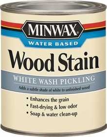 Minwax 2742661860 Water-Based Wood Stain White Wash Pickling Quart