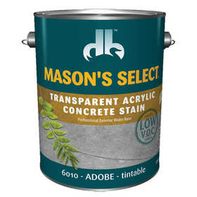 Duckback 4075560104 Mason's Select Transparent Acrylic Concrete Stain In Adobe 1 Gal
