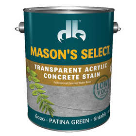 Duckback 4075560204 Mason's Select Transparent Acrylic Concrete Stain In Patina Green 1 Gal