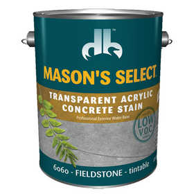 Duckback 4075560604 Mason's Select Transparent Acrylic Concrete Stain In Fieldstone 1 Gal