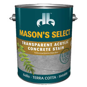 Duckback 4075560804 Mason's Select Transparent Acrylic Concrete Stain In Terra Cotta 1 Gal