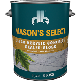Duckback 4075565204 Mason's Select Clear Acrylic Concrete Sealer In Gloss 1 Gal