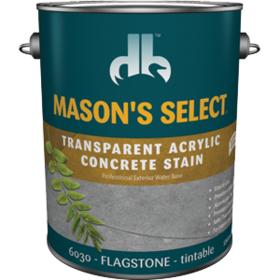 Duckback DB60304 Mason's Select Transparent Acrylic Concrete Stain In Flagstone 1 Gal