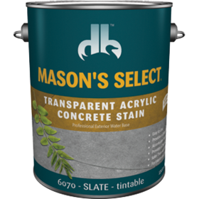Duckback DB60704 Mason's Select Transparent Acrylic Concrete Stain In Slate 1 Gal