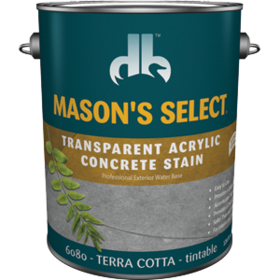 Duckback DB60804 Mason's Select Transparent Acrylic Concrete Stain In Terra Cotta 1 Gal