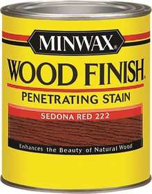Minwax 2742622220 Sedona Red Wood Finish Stain 1/2-Pint