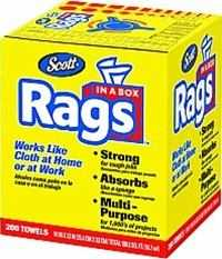 Scott 75260 Rag White Box 200count