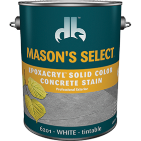 Duckback SC-6201-4 Mason's Select Epoxacryl Solid Color Concrete Stain In White 1 Gal