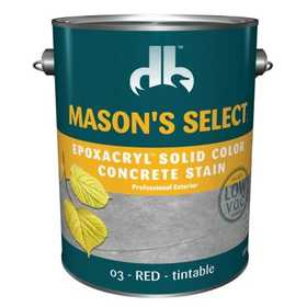 Duckback SC-6203-4 Mason's Select Epoxacryl Solid Color Concrete Stain In Red 1 Gal