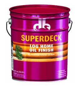 Duckback 4075573005 Superdeck Log Home Oil Finish Professional Exterior Oil Base In Autumn Brown 5 Gal