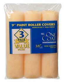 Rubberset 118403900 Paint Roller Cover One Coat 3pack
