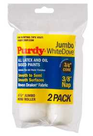 Purdy 140624012 4.5 Jumbo White Dove Paint Roller Cover 3/8 2pk
