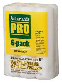 Sutherlands Pro 569050917 Professional Paint Roller Cover 3/8 in 6pk