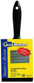 Quick Solutions 990438400 Brush Waterproofing/Stain 4 in