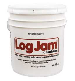 Sashco 50355 Jam Log Chinking Caulk Mortar White 5 Gal