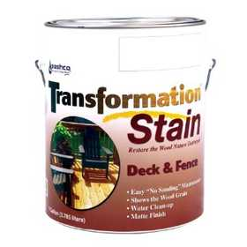 Sashco 03152567644 Transformation Stain Deck And Fence Red Tone Medium Gallon