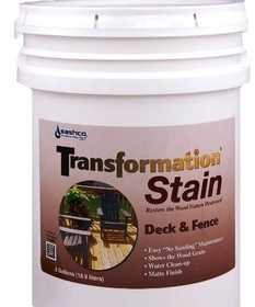Sashco 03152567665 Transformation Stain Deck And Fence Natural 5 Gal
