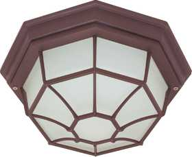 Satco Nuvo Lighting 60-535 Outdoor Die-Cast Caged Ceiling Light Old Bronze