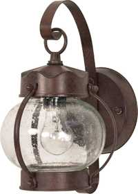 Satco Nuvo Lighting 60-631 Outdoor Onion Lantern With Seeded Glass Old Bronze